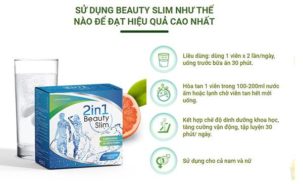 hướng dẫn sử dụng Giảm cân Beauty Slim