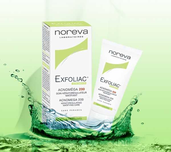Giới thiệu Noreva Exfoliac Acnomega 200