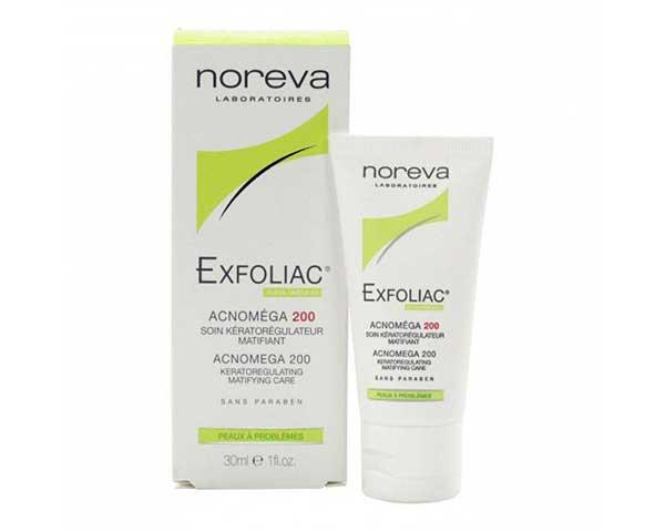 Tìm hiểu về Noreva Exfoliac Acnomega 200