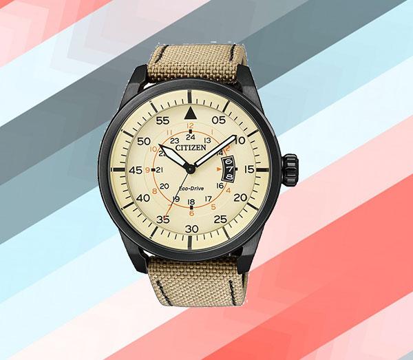 Đồng hồ Citizen AW1365-19P Aviator Beige