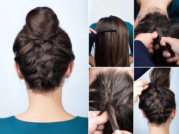 Búi tóc ngược