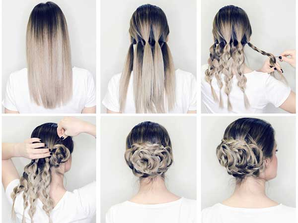 Búi tóc xoăn cầu kì
