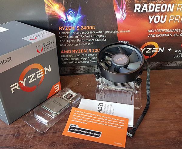 CPU AMD Ryzen 3 2200G cho game thủ