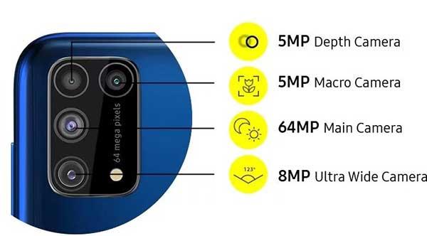 điện thoại chụp hình Samsung Galaxy M31