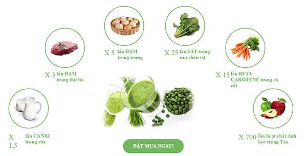 Giá trị dinh dưỡng trong Spirulina Spimate