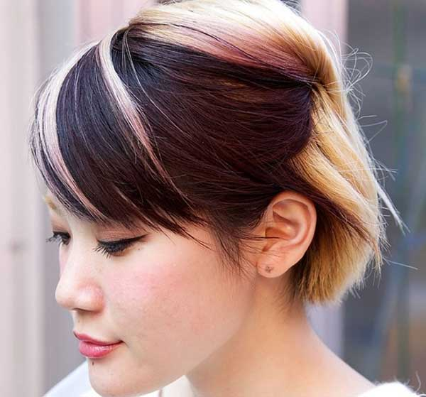 Tóc mái 2 màu