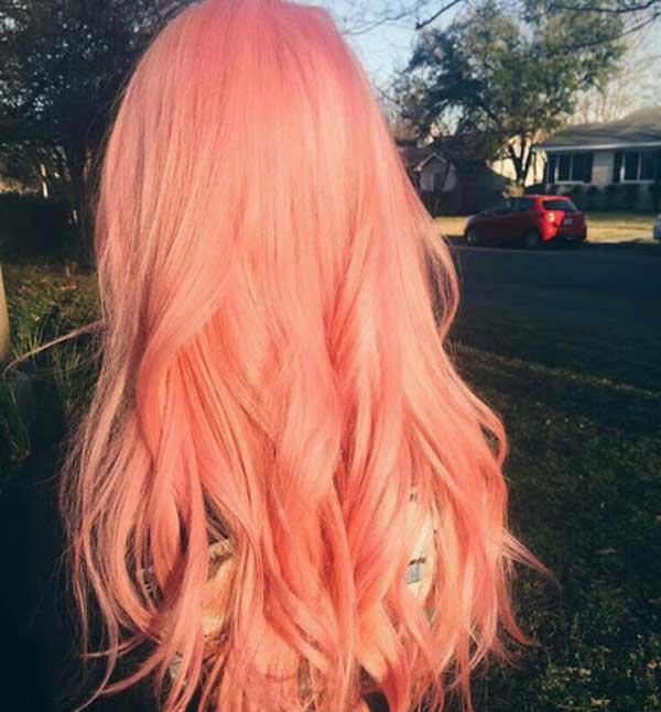 Tóc màu hồng san hô