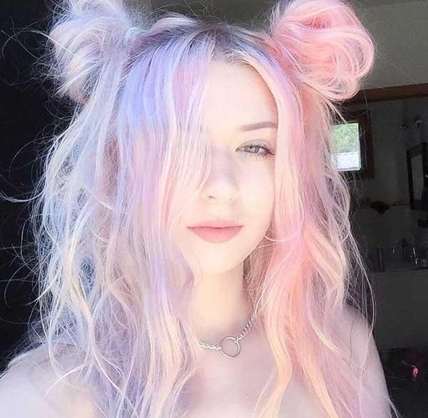 Tóc màu tím Pastel
