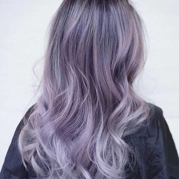 Tóc màu tím sữa