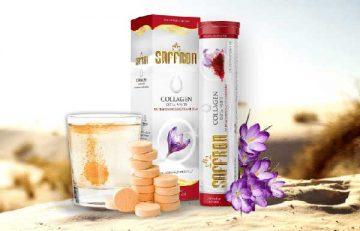Đánh giá viên sủi trắng da Saffron Collagen Extra White