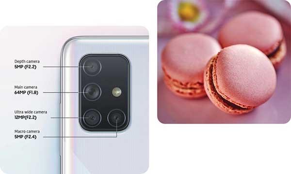 camera điện thoại Samsung Galaxy A71