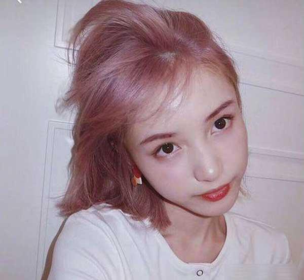 kiểu tóc nâu khói ánh hồng
