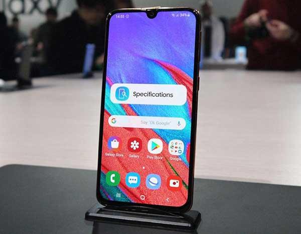 màn hình trước Samsung Galaxy A41