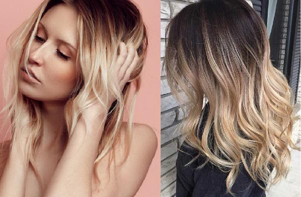 Nhuộm tóc 2 màu