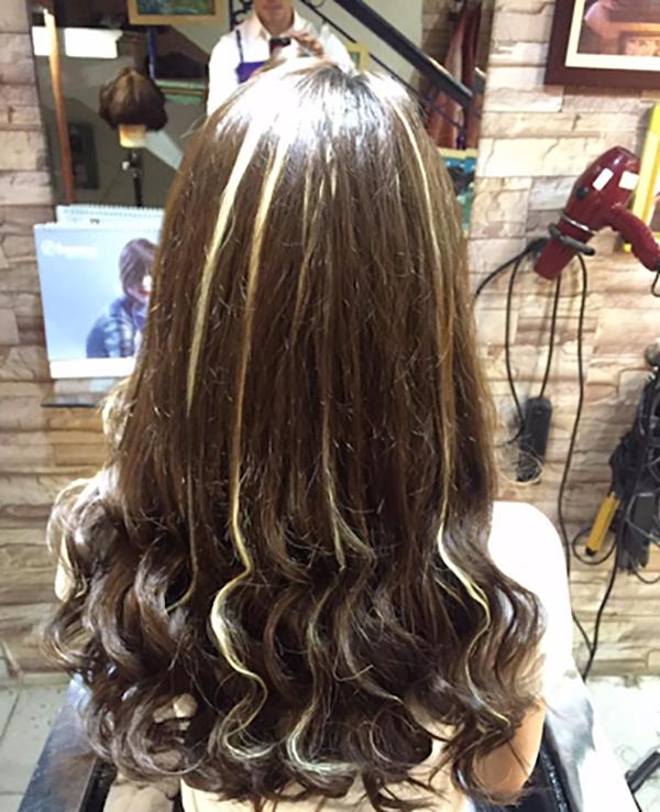 tóc vàng phẩy light