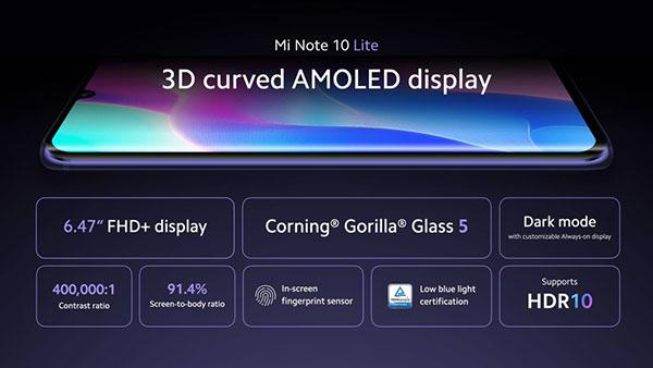 Xiaomi Mi Note 10 Lite chính hãng
