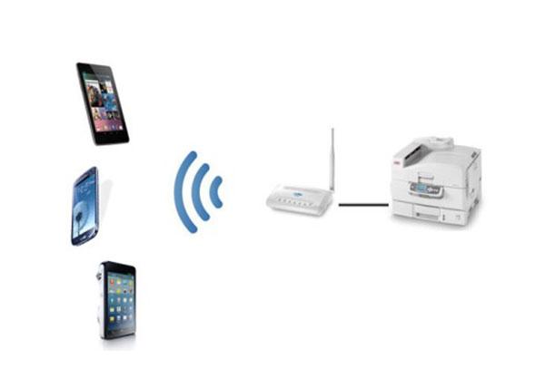 In ấn wifi qua di động