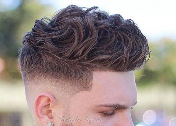 Kiểu tóc xoăn ngắn cho nam