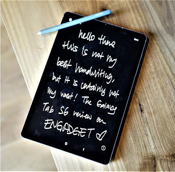 Note Samsung Galaxy Tab s6
