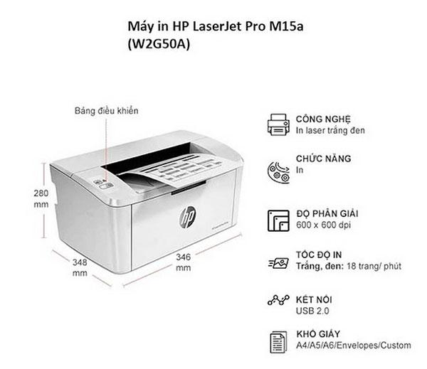 Thông số hp laserjet pro m15a