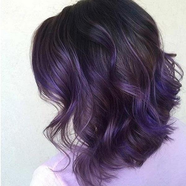Tóc xanh đen ánh tím