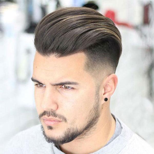 Top kiểu tóc vuốt ngươc cạo sát