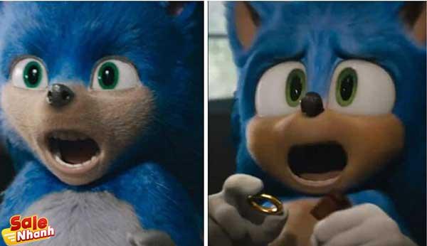 Tạo dáng nhân vật Sonic