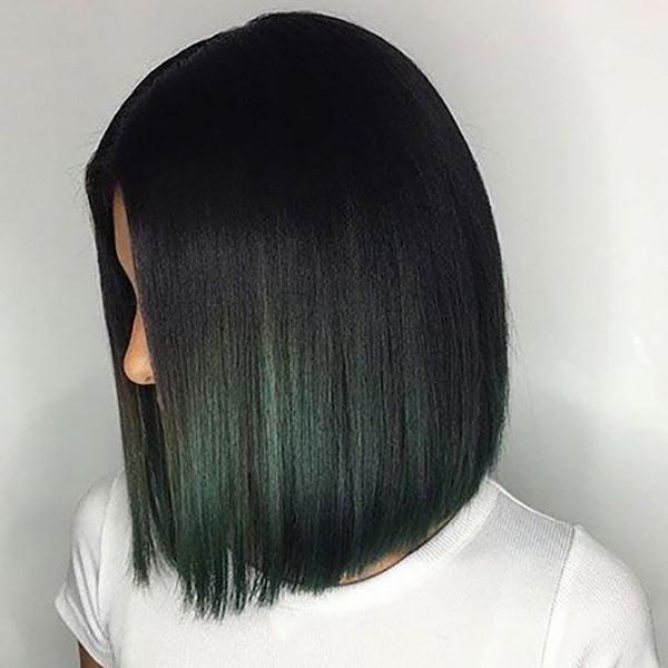 Tóc xanh rêu đen