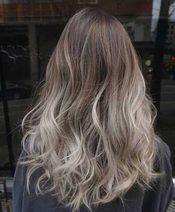 Màu tóc nâu khói Ombre