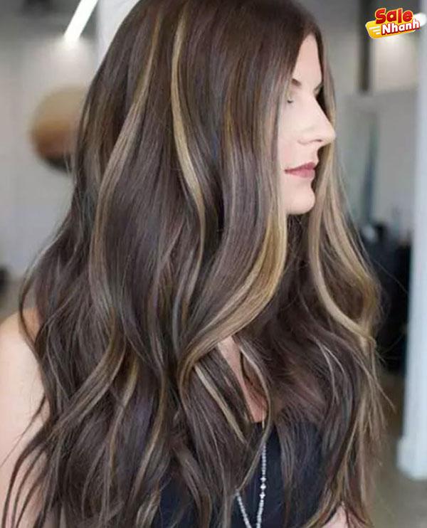 Màu tóc nâu tây highlight đẹp