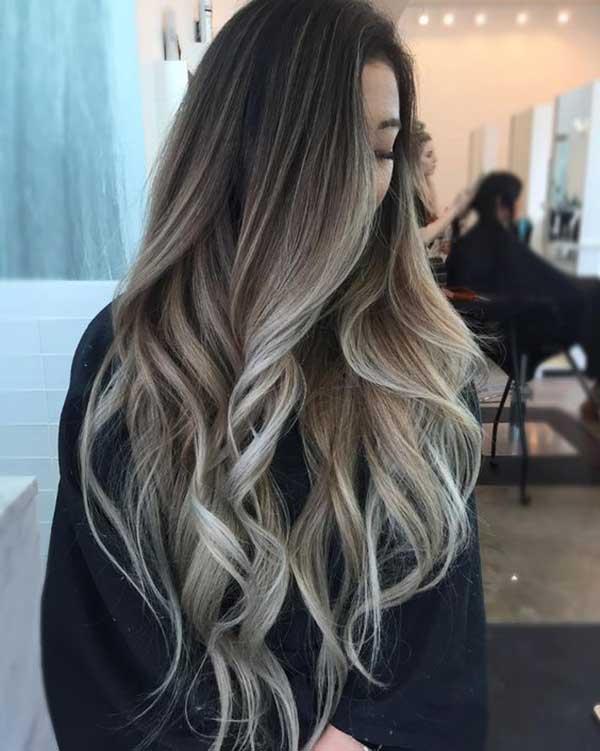 Tóc màu nâu Ombre