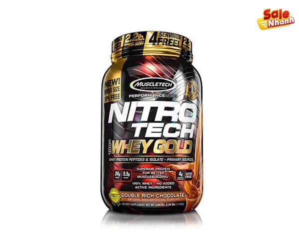 Sản phẩm san pham uscleTech NitroTech whey Gold 6 lbs