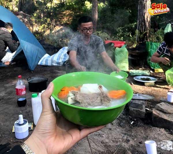 Ăn sáng trong rừng Đà Lạt