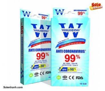 [Review] Đánh giá khẩu trang y tế Wakamono diệt Virus Corona 99%