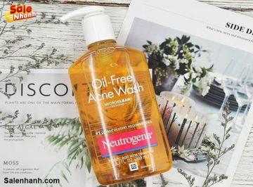 [Review] Đánh giá sữa rửa mặt Neutrogena Oil Free Acne Wash
