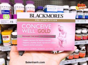 [Review] Đánh giá Blackmores Conceive Well Gold có tốt không?