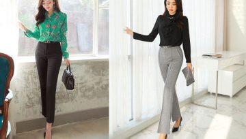 Top 5 kiểu quần tây nữ thời trang nhất dành cho cô nàng công sở